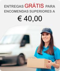Entregas Grátis a Partir de € 40